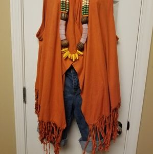 Ashley Stewart Jackets & Coats - Orange suede vest